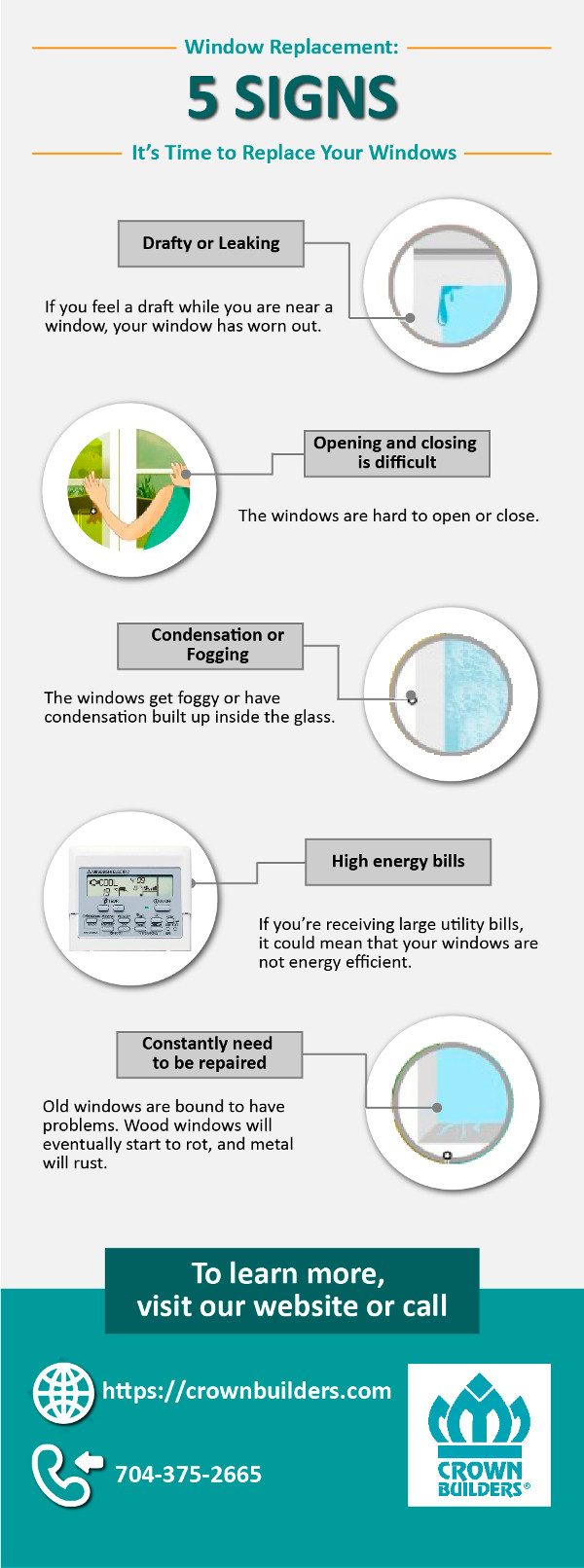 Window Replacement: Five Signs It's Time to Replace Your Windows