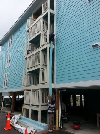Aqua marine hardiplank siding Coastal Division South Carolina