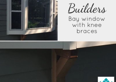 Bay window with knee brace support