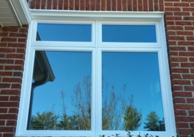 Double casement with two transoms vinyl windows with solar ban 70 glass