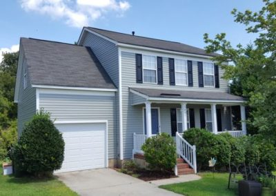 Mastic Dutchlap vinyl siding in color Scottish T