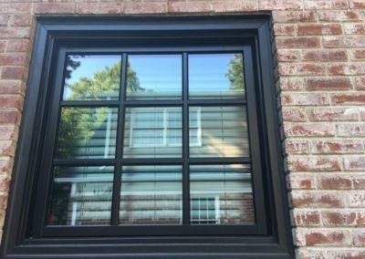 Windsor black exterior window