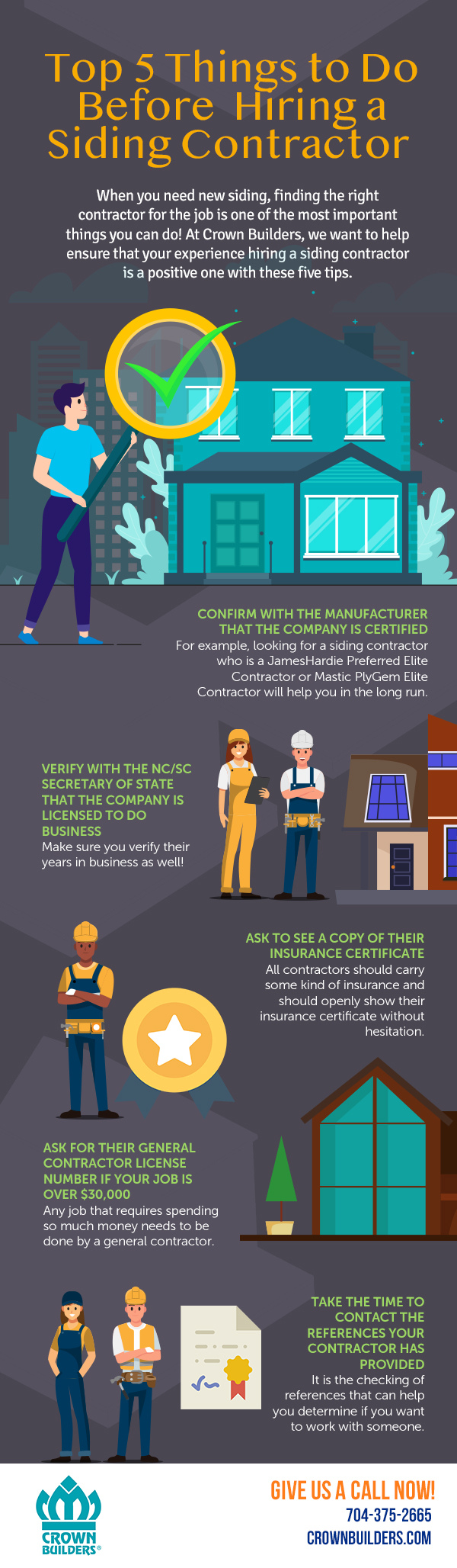 Top 5 Things to Do Before Hiring a Siding Contractor [infographic]